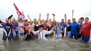 Saundersfoot's famous New Year's Day charity swim