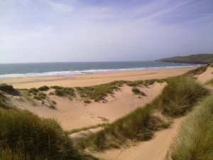 Freshwater West where the Welsh National Surfing Championships are held