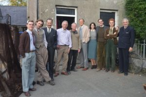 The cast outside the Cresselly Arms at Cresswell Quay, Pembrokeshire (pic. courtesy of Cresselly Arms)