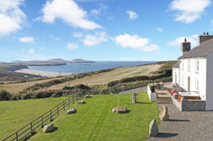 Upper Porthmawr has sweeping views out over Whitesands Bay